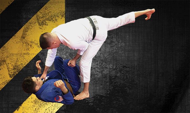 Image of BJJ Black Belt James Clingerman demonstrating High Collar passing