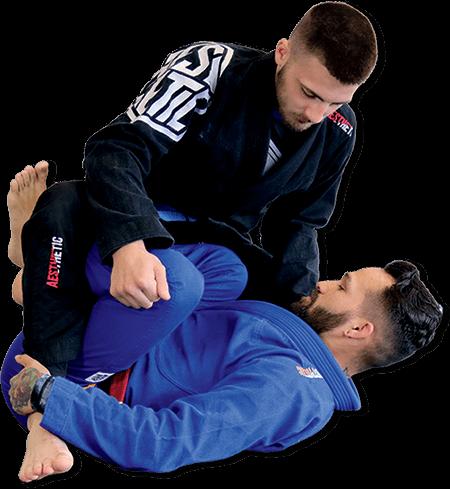Photo of BJJ Black Belt Chris Noonan demonstrating Cadeirinha